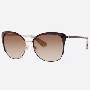 "Kate Spade ""Genice"" 0GSA Gold Brown Sunglasses"
